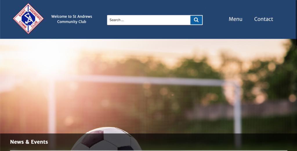Screenshot of St Andrews Community Club