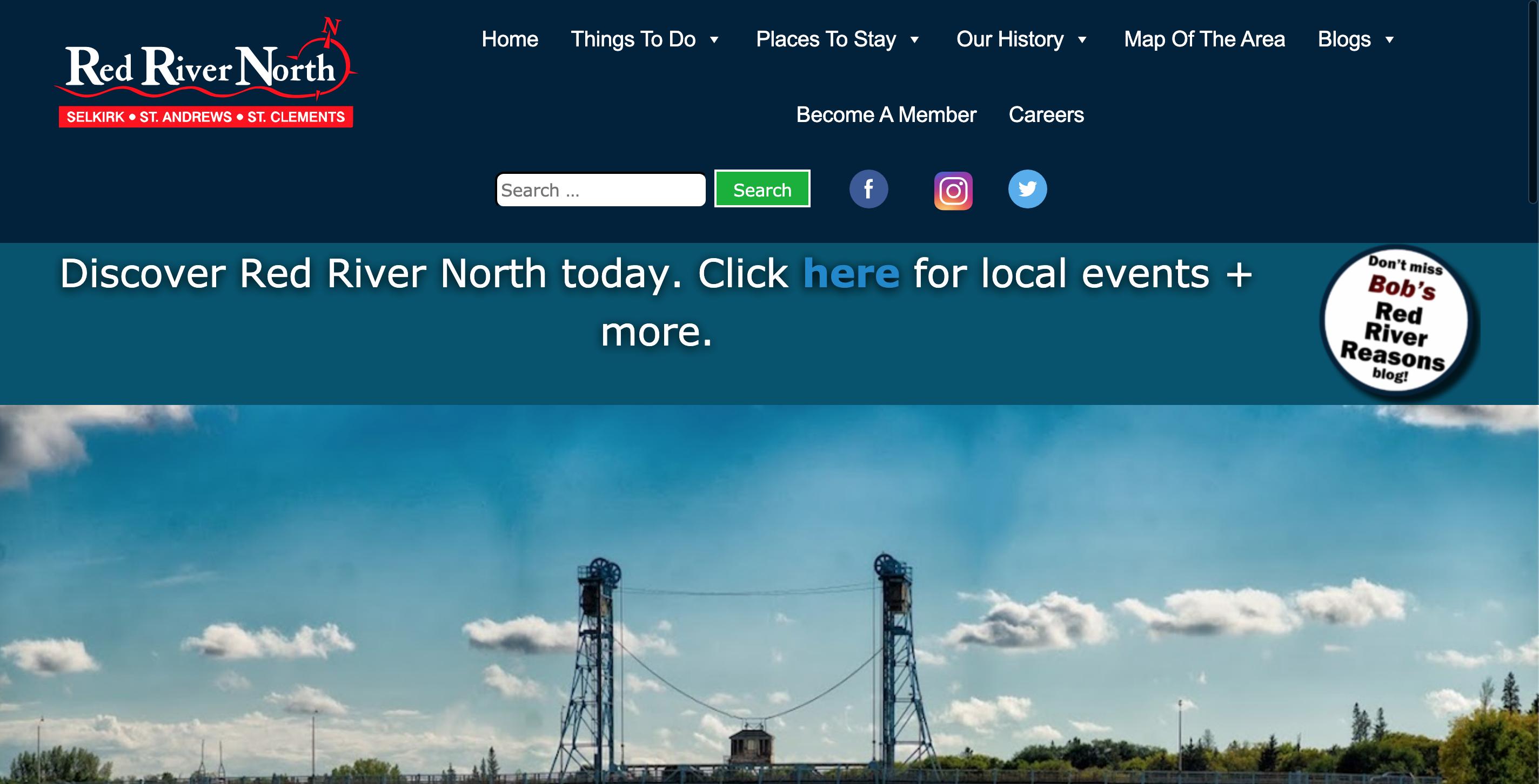 Screenshot of redrivernorthtrourism.com